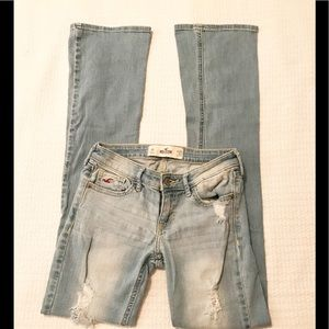 Hollister Boot Cut Distressed Jeans